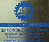 My ASE Certification