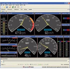 Obd software screen capture
