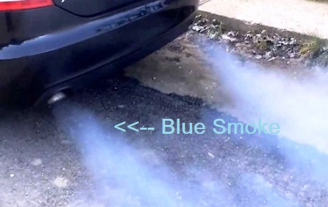 Engine burns oil blue smoke