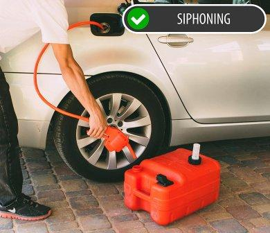 Car Gas Tank Siphoning