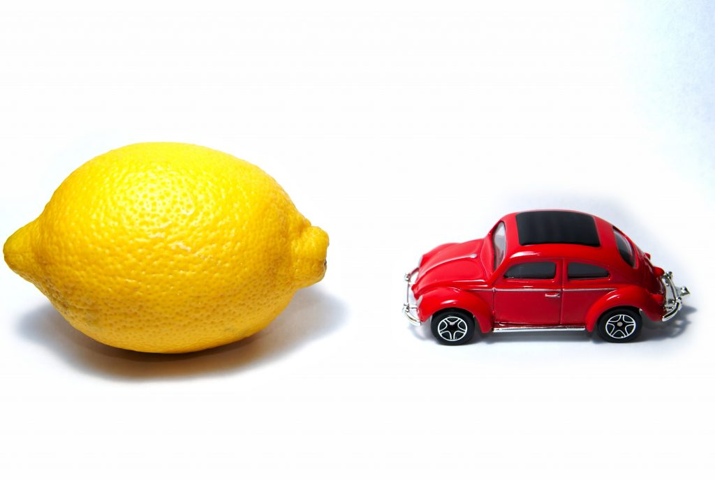 lemon and model car