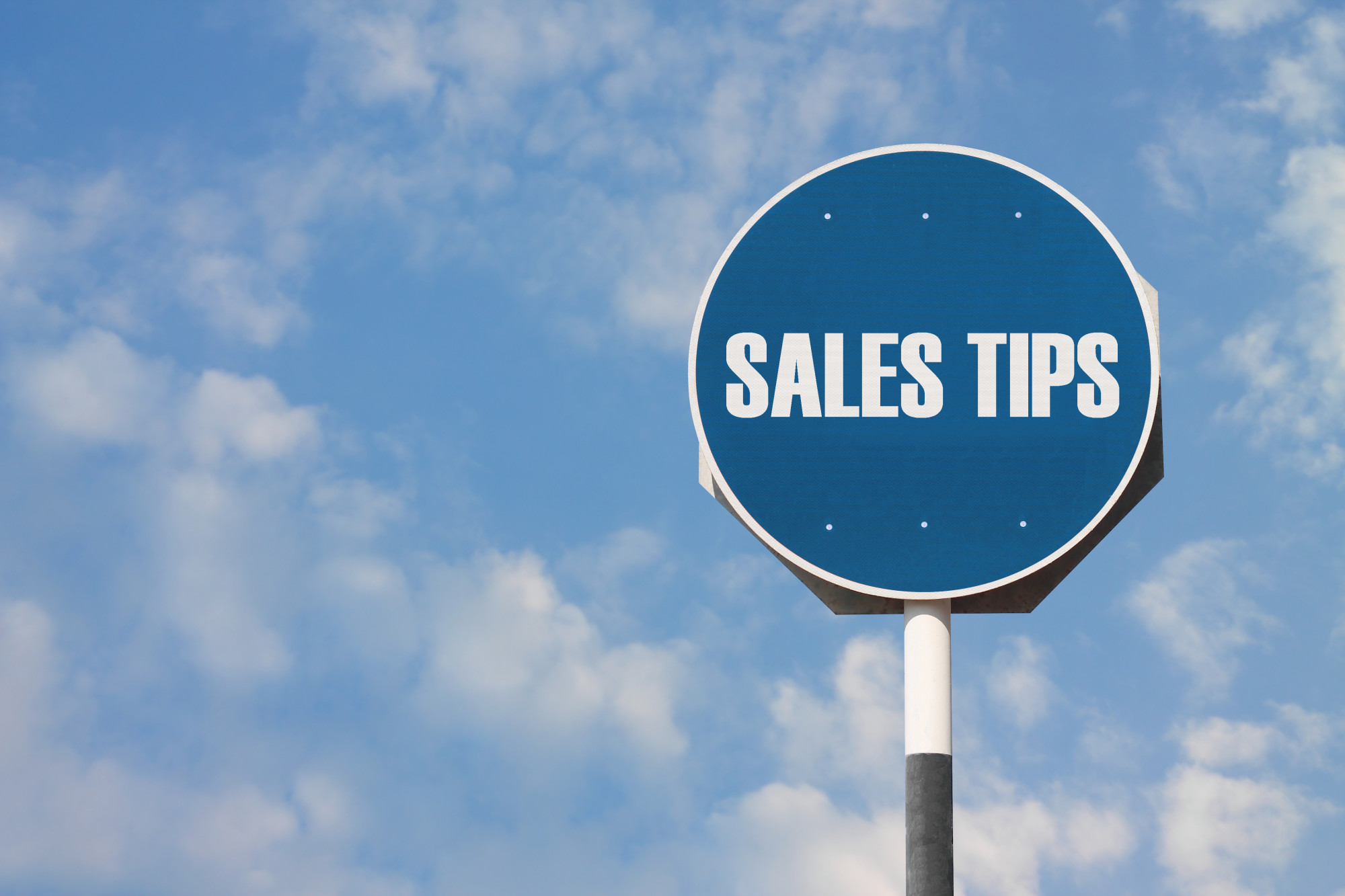 sales tips on sign