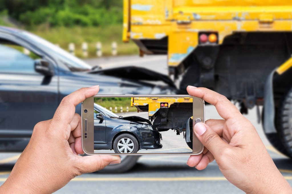 Taking a Photo of a Car Accident